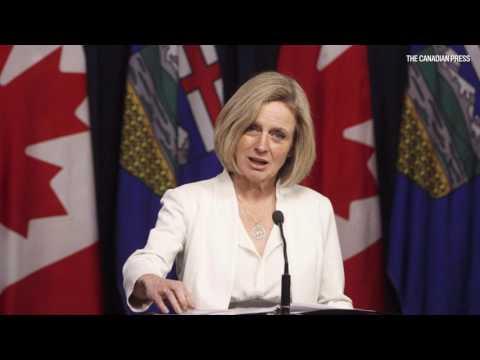 Braid column on Alberta throne speech