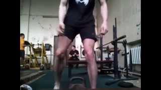 Техника поднятия гири в 40 кг