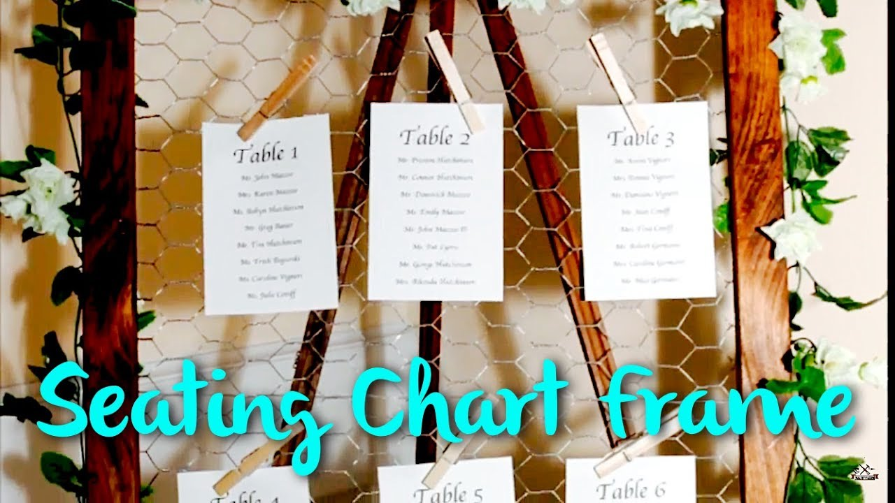 Framed Wedding Seating Chart With Chicken Wire WEDDING SERIES PT. 2