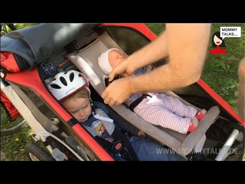 Thule Chariot Cougar 2 Fahrradanhängerbuggy Bewertung Video