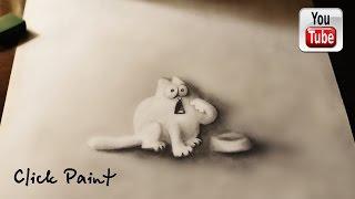 Кот Саймона Объемный РИСУНОК карандашом  Simon's Cat   YouTube(Рисунок для начинающих , нарисуйте объемный рисунок на бумаге используя лишь только простой карандаш...., 2016-05-26T15:22:15.000Z)