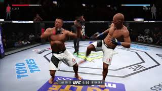 UFC 2 Rage he Quits before the replay of his loss