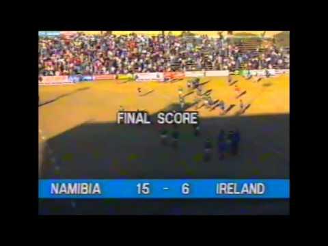 The moment Namibia beat Ireland