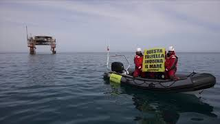 Trivelle nel mar Adriatico, blitz targato Greenpeace