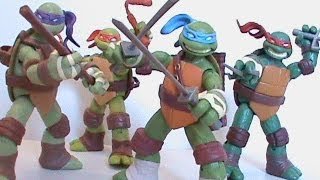 TMNT Teenage Mutant Ninja Turtles Nickelodeon 2012 Cartoon Show Playmates Action Figures