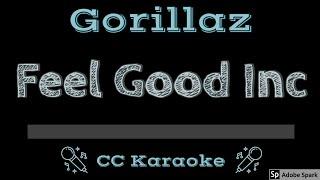 Gorillaz • Feel Good Inc (CC) [Karaoke Instrumental Lyrics]