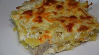Ну, оОчень вкусная - Картофельная Запеканка с белым мясом!