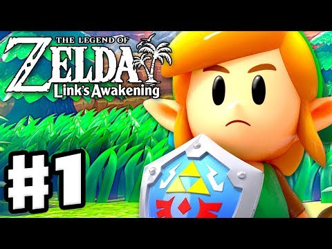 The Legend of Zelda: Link's Awakening - Gameplay Part 1 - Intro and Tail Cave! (Nintendo Switch)