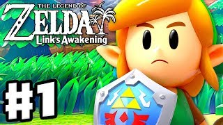 The Legend Of Zelda: Link's Awakening - Gameplay Part 1 - Intro And Tail Cave! Nintendo Switch