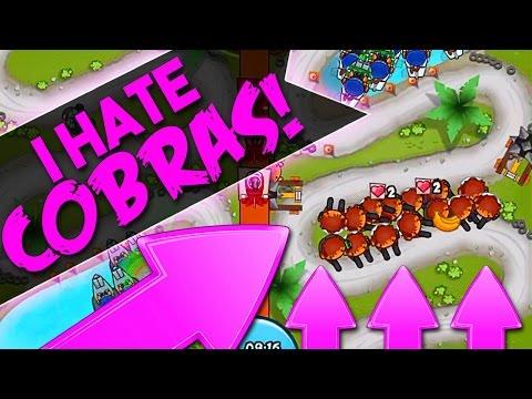 Bloons TD Battles  ::  I HATE THE COBRA  ::  CRAZY ARENA GAMEPLAY :: BTD Battles