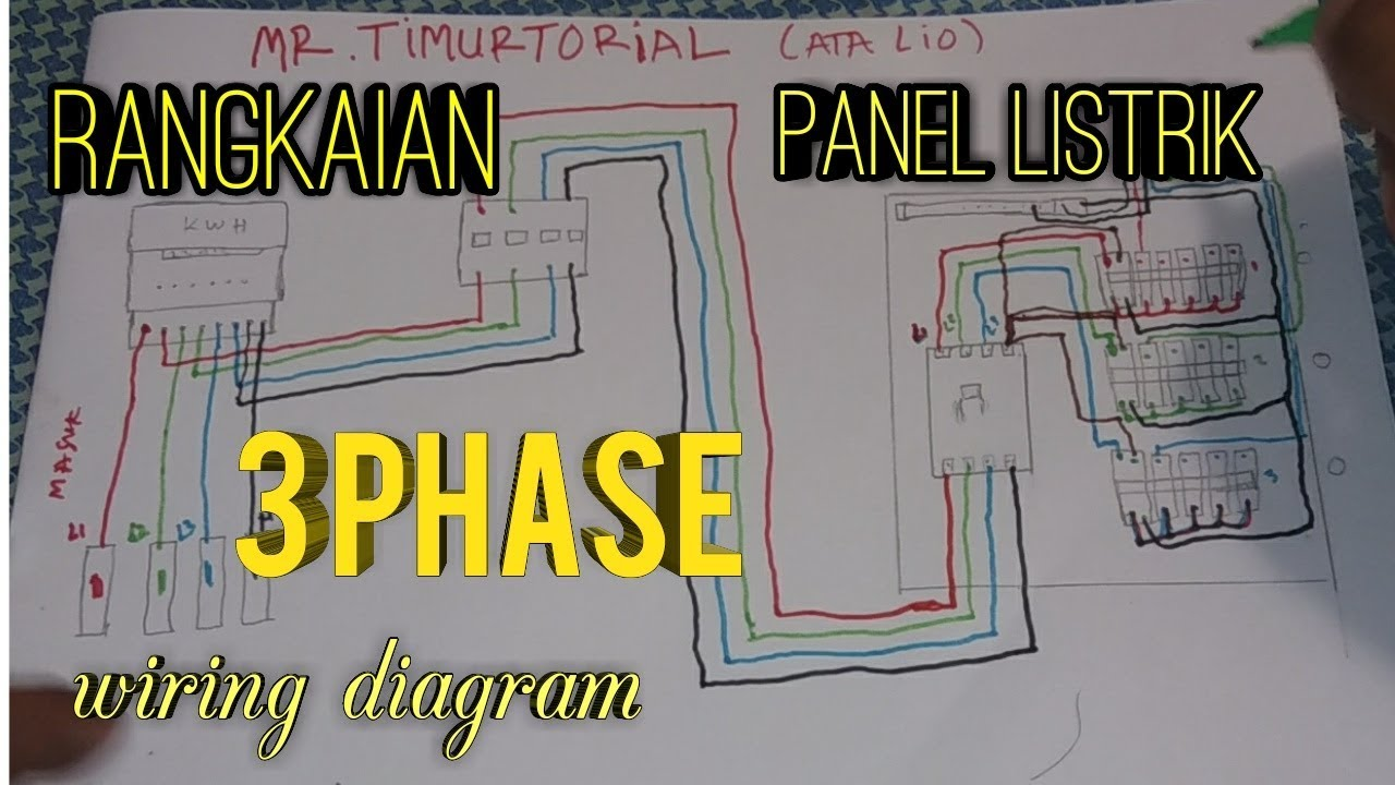 Rangkaian sederhana panel listrik 3 phase || simple circuit in a 3 on