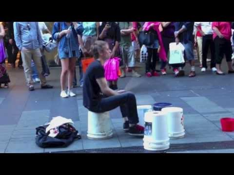 Incredibly Fast Street Drummer - Pitt Street Sydney