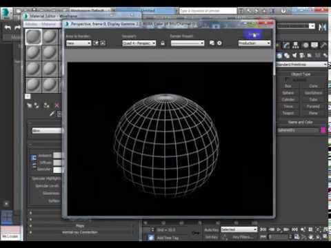 3DS MAX Tutorial - Rendering a Wire Frame
