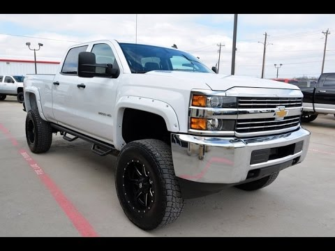 used 2015 chevrolet silverado 2500hd crew cab diesel lifted truck youtube. Black Bedroom Furniture Sets. Home Design Ideas
