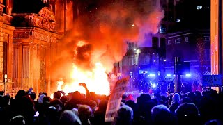 video: Bristol protesters who tried to set fire to police van could be investigated for attempted murder