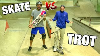 ON ÉCHANGE NOS SPORTS ! #4 (TROTTINETTE VS SKATE)