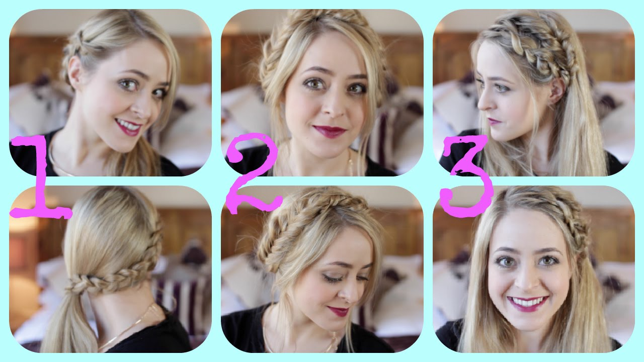 Easy Braid Hairstyles abby smiths twisted crown braid easy braided hairstyles for spring 2017 makeup tutorials guide 3 Easy Braided Hairstyles Fleur De Force Youtube