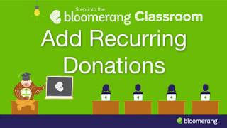 Add Recurring Donations