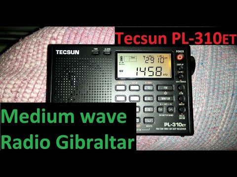 Radio Gibraltar received in Portugal - Tecsun PL-310ET