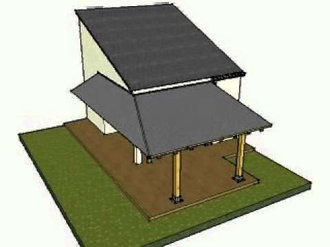 Dise o de porche de madera a dos aguas en sant esteve de for Casas con techo de teja