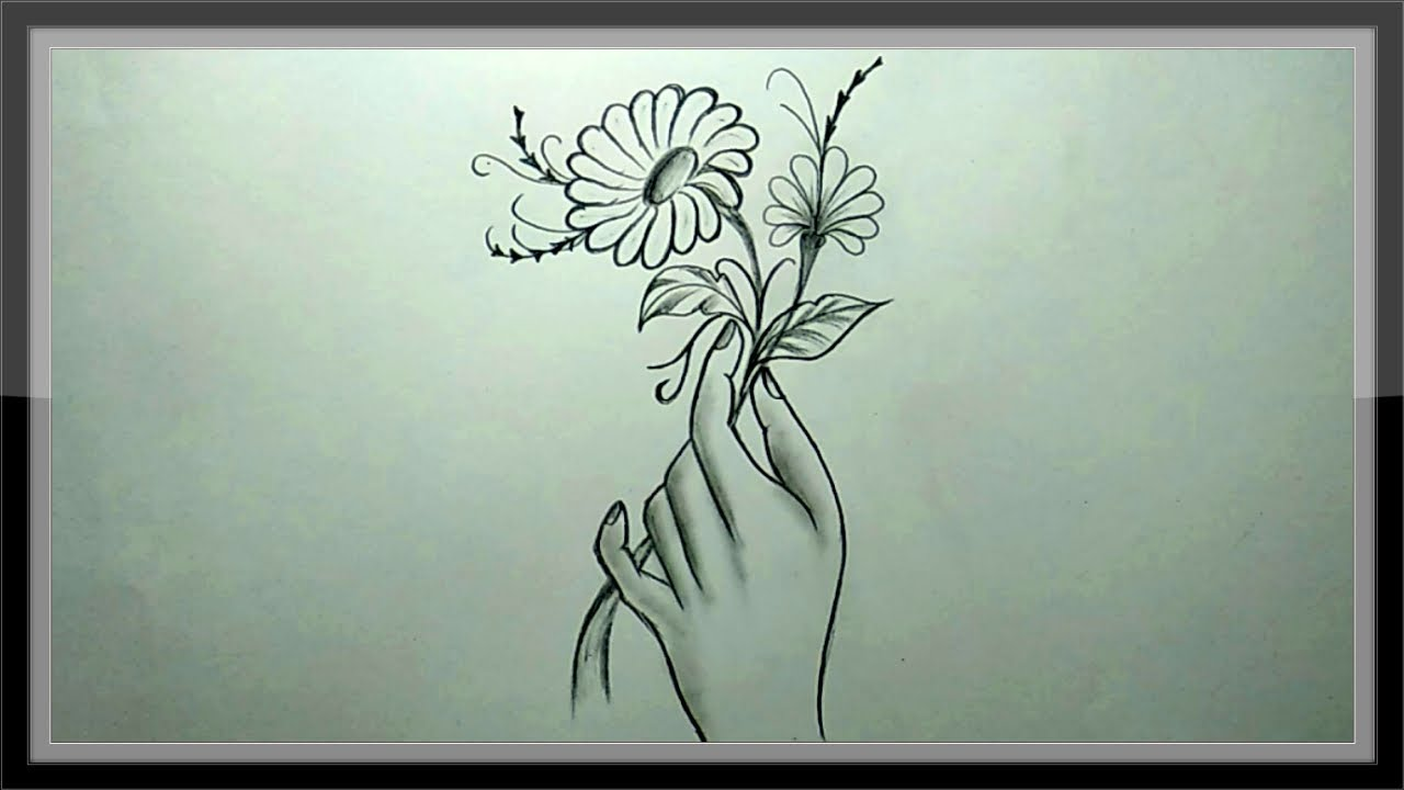 Pencil drawing how to draw beautiful flower ➤easy chandra art