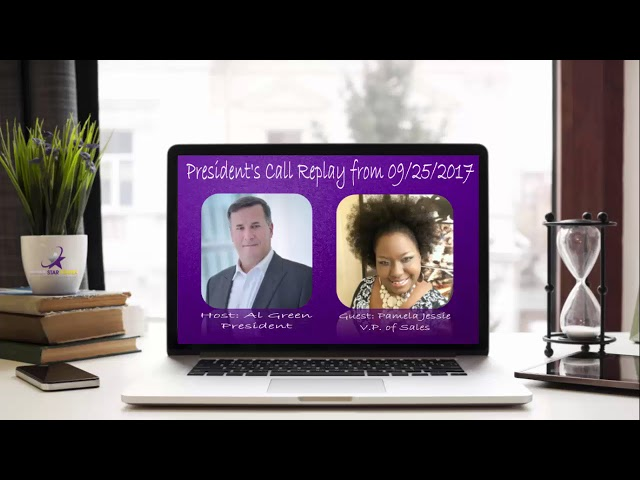 REPLAY | Presidents Update Call With Al Green and Guest Pamela AlliDoisWin Jessie V. P.  of Sales
