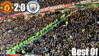 Manu fans make fun of Man City Fans during the Manchester Derby