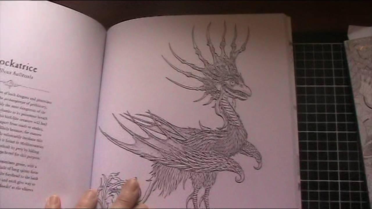 Dragonology Coloring Book Flip Through Petras Place