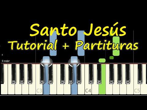 SANTO JESUS Piano Tutorial Cover Facil + Partitura PDF Sheet Music Easy Midi thumbnail