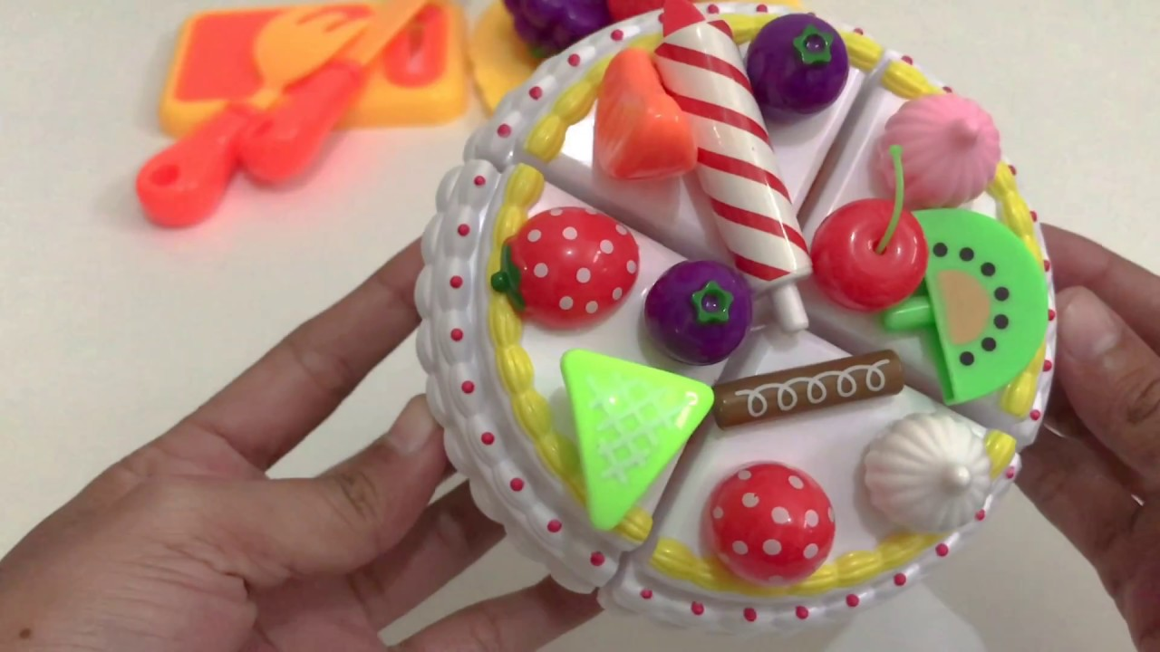 Cutting Birthday Party Fruit Cake Video For Kids YouTube