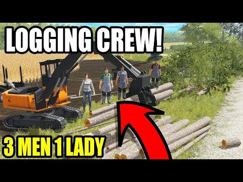 MEET THE LOGGING CREW! WISCONSIN LOGGING EP #5 | FARMING SIMULATOR 2017