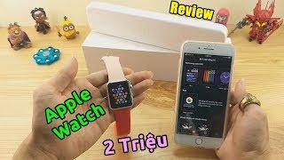 Gambar cover Mở Hộp Apple Watch Giá 2 Triệu LAZADA SHOPEE. Cạn Lời