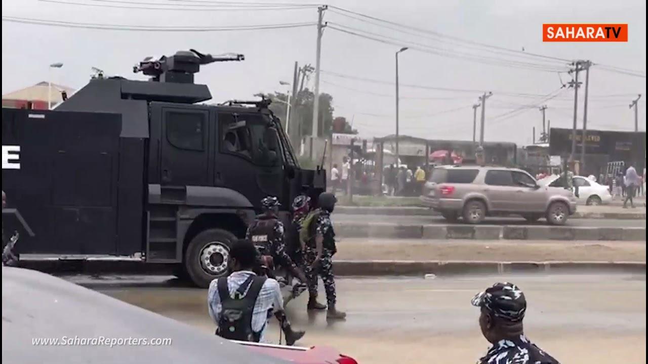 Police Violently Disperse Yoruba Nation Agitators In Lagos