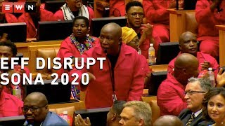 Before Cyril Ramaphosa began his 2020 State of the Nation Address, members of the EFF demanded that former president FW De Klerk be removed from the house, saying he was an apartheid apologist and had blood on his hands.   #Sona2020 #EFF #JuliusMalema