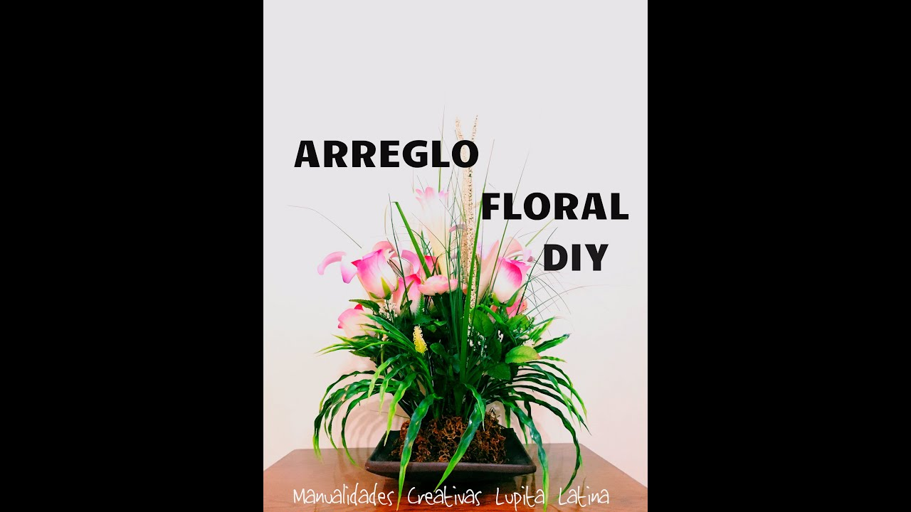 Diy centro de mesa flores artificiales rosas flower - Centro de mesa con flores artificiales ...