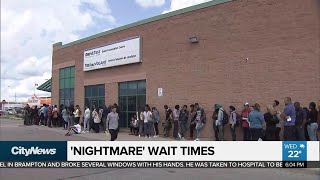 Nightmare wait times at Brampton DriveTest examination centre