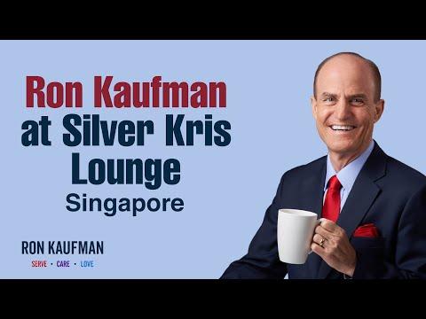 Silver Kris Lounge in Singapore; Customer Service Expert Ron Kaufman