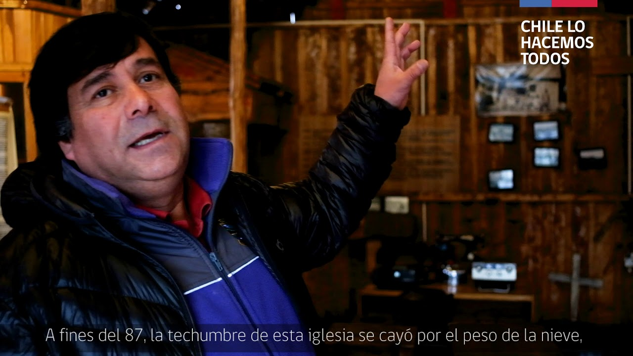 HUMBERTO PIZARRO, encargado Museo Padre Antonio Ronchi. Villa O'Higgins, Patagonia chilena.