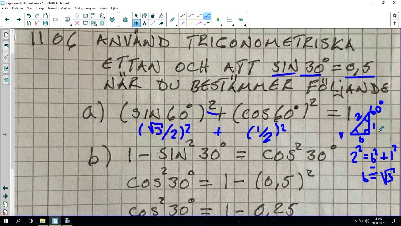 121. Trigonometriska funktioner 7