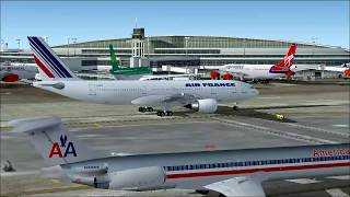 Flight Simulator 2004 Chicago to Paris by Air France