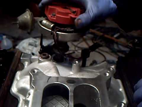 small block chevy HEI distributor installation - YouTube