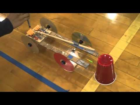Nc Science Olympiad Mousetrap Vehicle Demo 1 Youtube