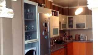 кухня верхние ящики ваниль, низ оранжевый, столешница серая(, 2014-03-18T20:00:47.000Z)