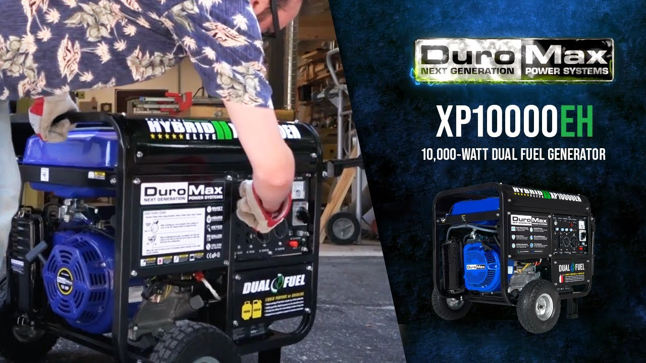 Duromax Xp10000eh 10000 Watt Electric Start Dual Fuel Hybrid Portable Generator