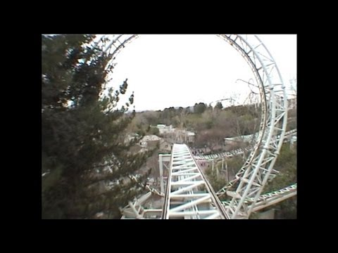 Revolution Roller Coaster POV cira 2000 Six Flags Magic Mountain California