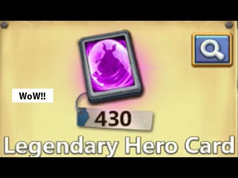 Opening 430 LEGENDARY Hero Cards IS Skull KNIGHT Possible Castle Clash