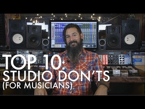 TOP 10 - STUDIO DON'TS
