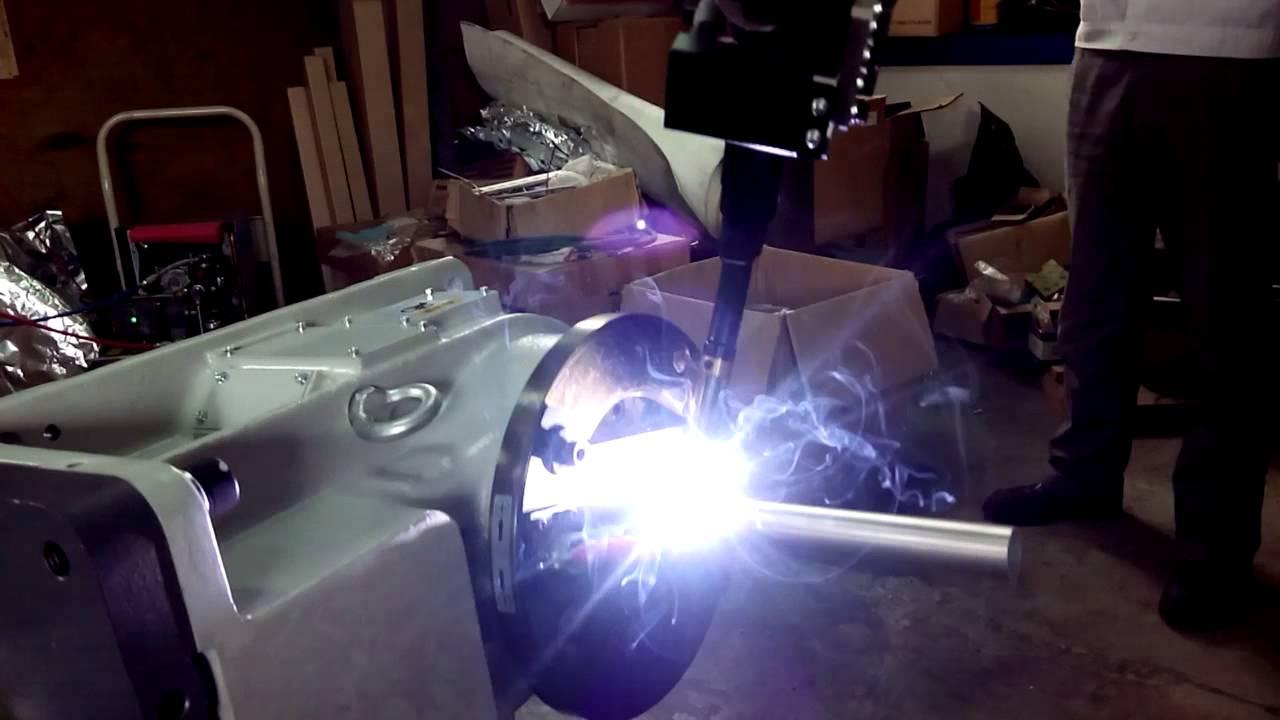 自行車鋁管焊接實驗 - YouTube