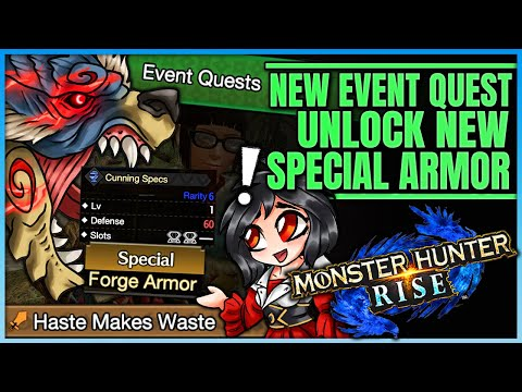 NEW RISE EVENT QUEST - Unlock New Special Armor + Layered Armor - Breakdown - Monster Hunter Rise! |