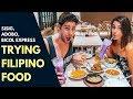 Incredible filipino food trying sisig adobo bicol express and sinigang in manila food vlog mp3